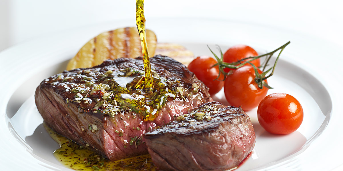 Grilled fillet of beef