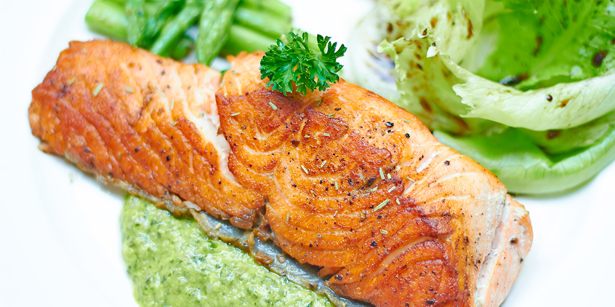 "Grilled salmon with Chimichurri ""Sauce&More"""