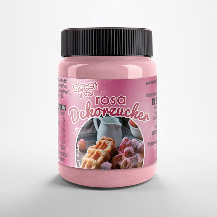 Azúcar glass rosa