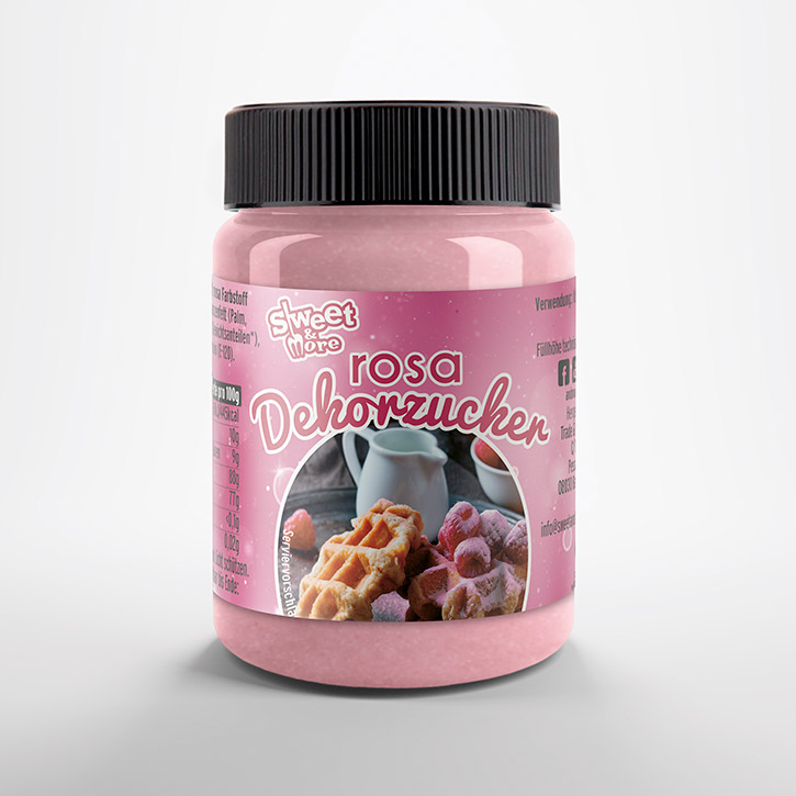 Pink glass sugar